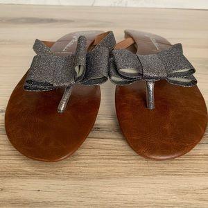 Jeffrey Campbell Shoes - Jeffrey Campbell Esmeralda Glitter Bow Sandals